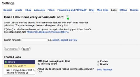 Gmail Labs