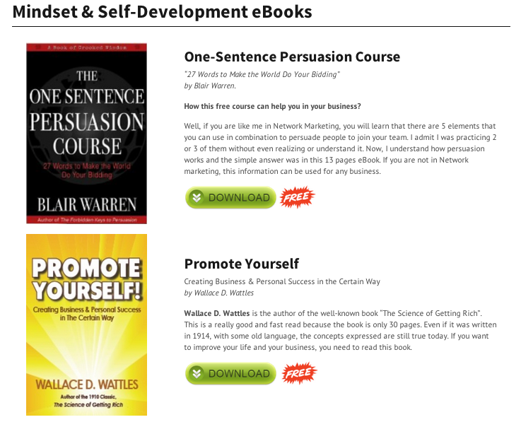 MIndset & Self-Development eBooks
