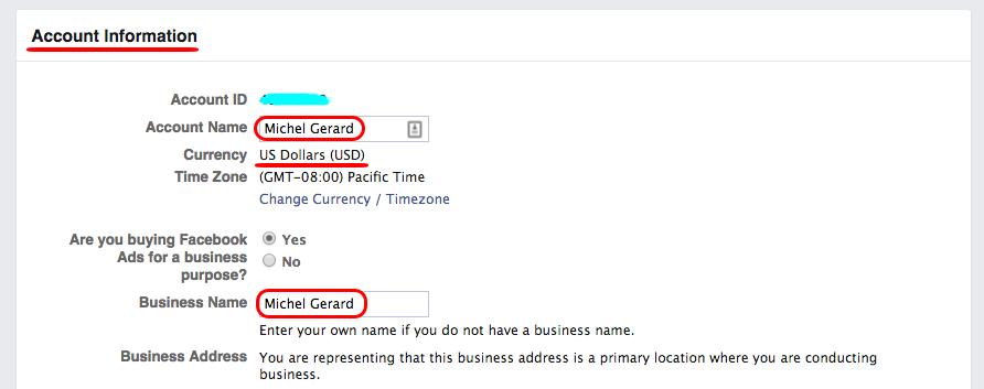Facebook Advertising Account