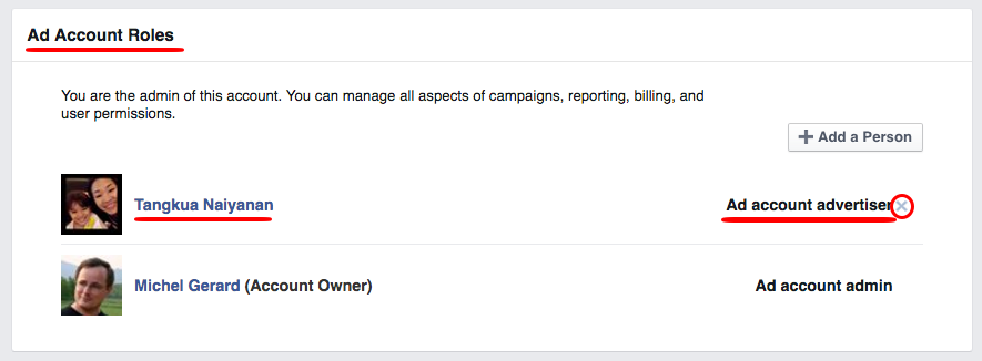 Share your Facebook Advertising Account