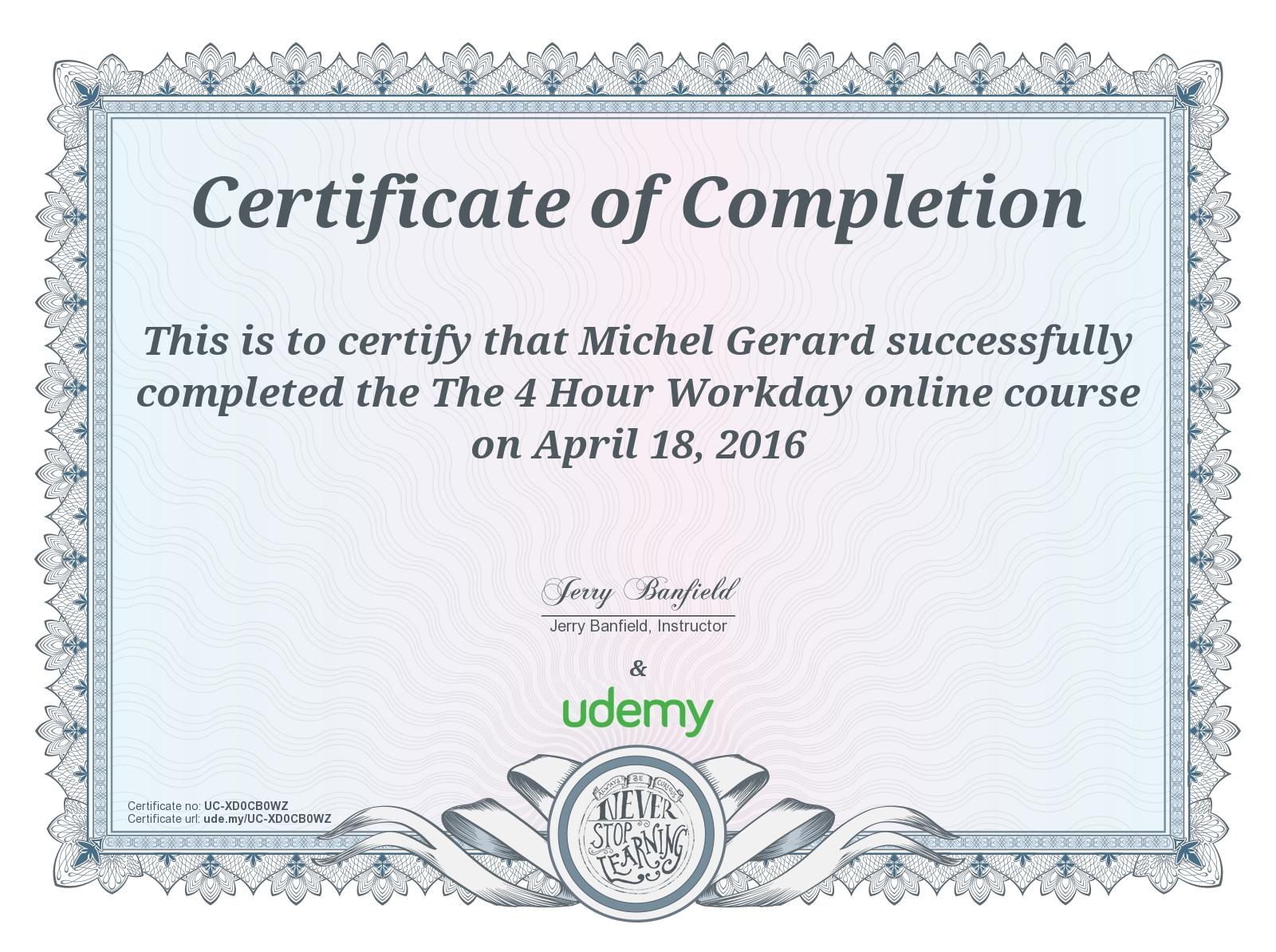 The 4 Hour Workday Michel Gerard Internet Entrepreneur