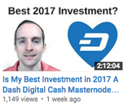 Is My Best Investment in 2017 A Dash Digital Cash Masternode