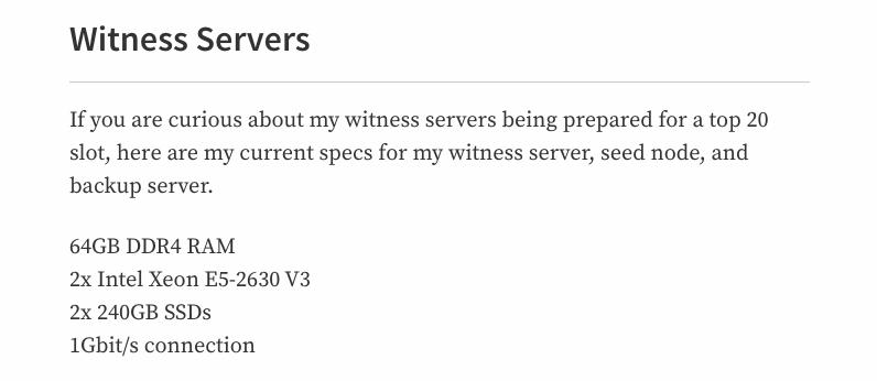 Witness servers