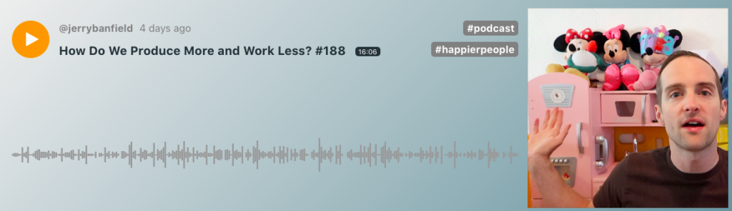 How Do We Produce More and Work Less? #188