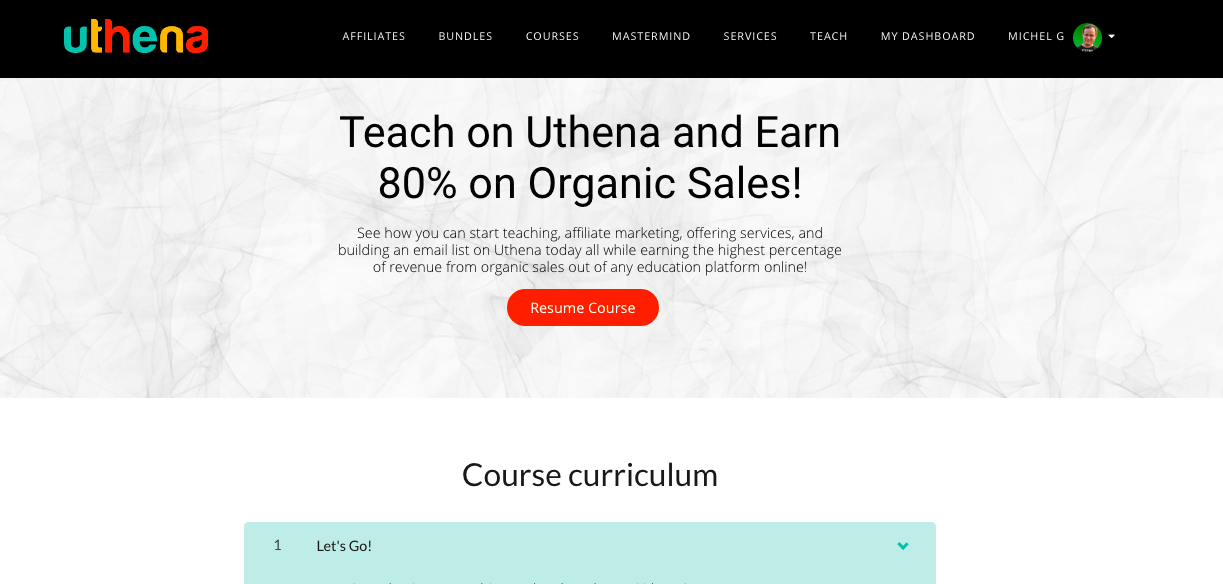 Online Instructors Can Now Earn 80% on Organic Sales with Uthena!