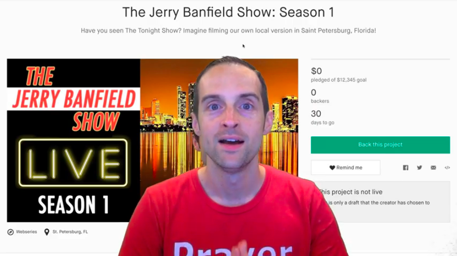 The Jerry Banfield Show Live in Saint Petersburg, Florida.